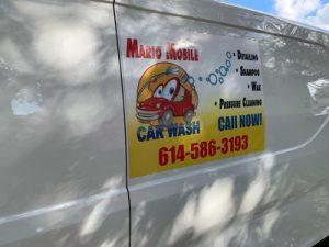 Mario carwash Van Sign